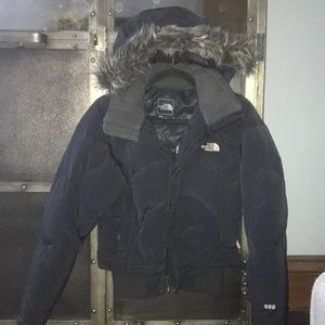 North Face Puffy Bomber Jacket